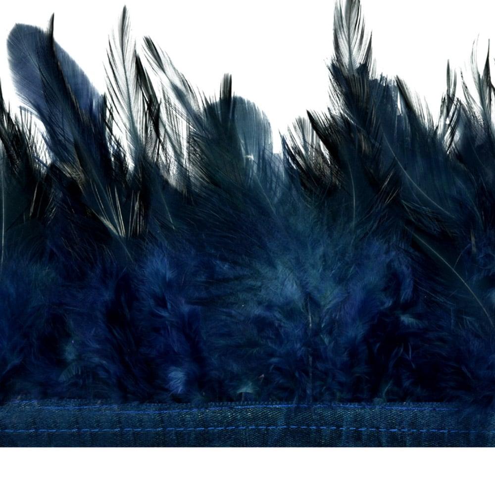 fleco plumas de gallo azul marino