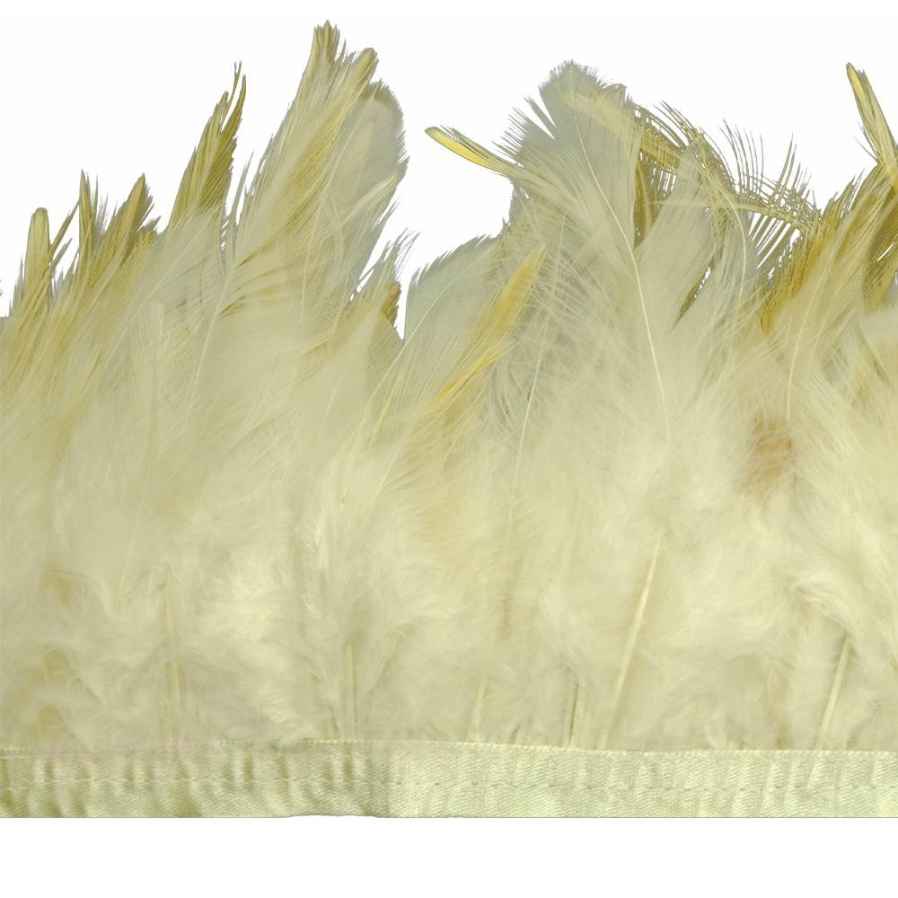 fleco plumas de gallo beige tostado