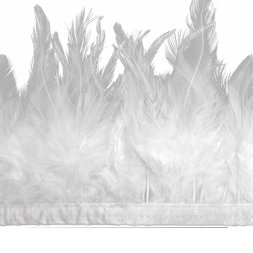 fleco plumas de gallo blanco
