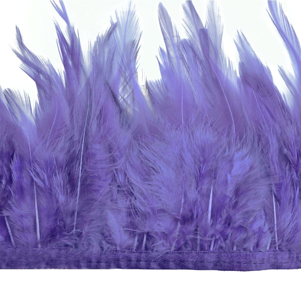 fleco plumas de gallo lila