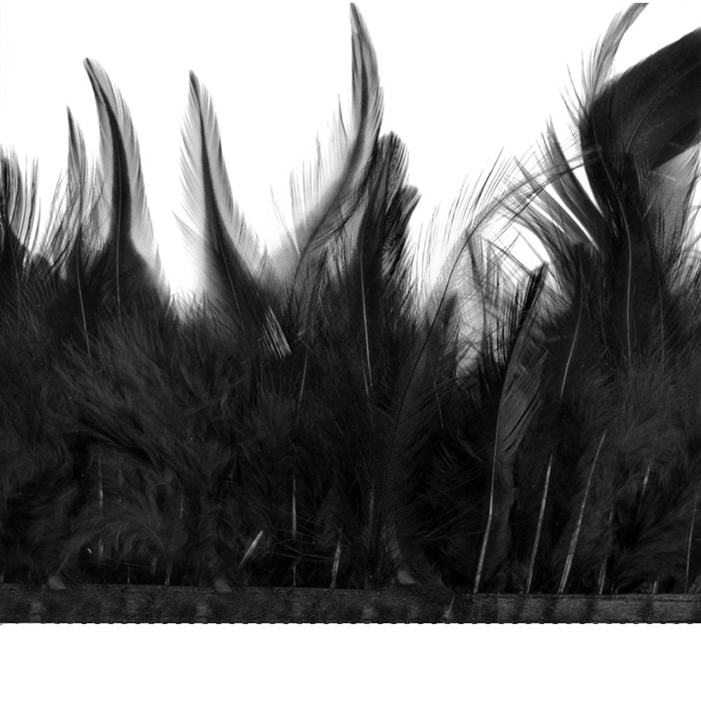 fleco plumas de gallo negro