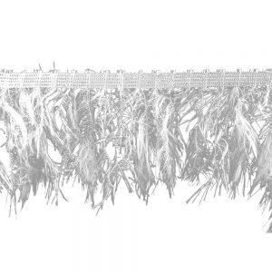fleco simil plumas 10 cm blanco