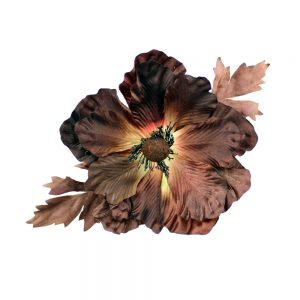 flor alesha marrón oscuro