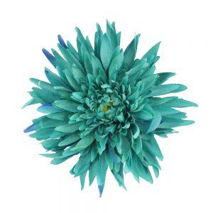 flor crisantemo verde mar