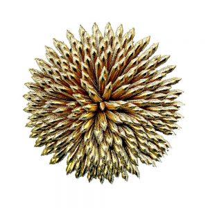 flor crisol oro