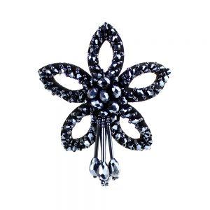 flor cristal estrella azul petroleo