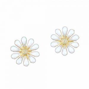 flor esmaltada blanco