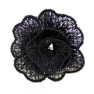 flor guipur 50 mm negro