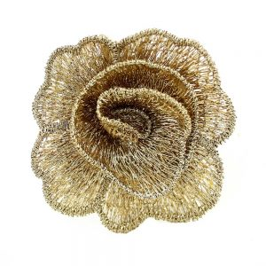 flor guipur 50 mm oro