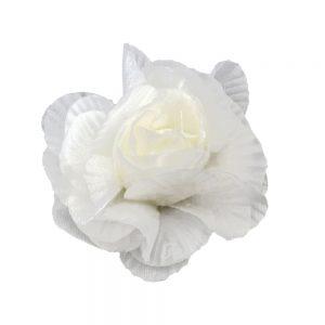florecilla Plisada 6 CM blanco