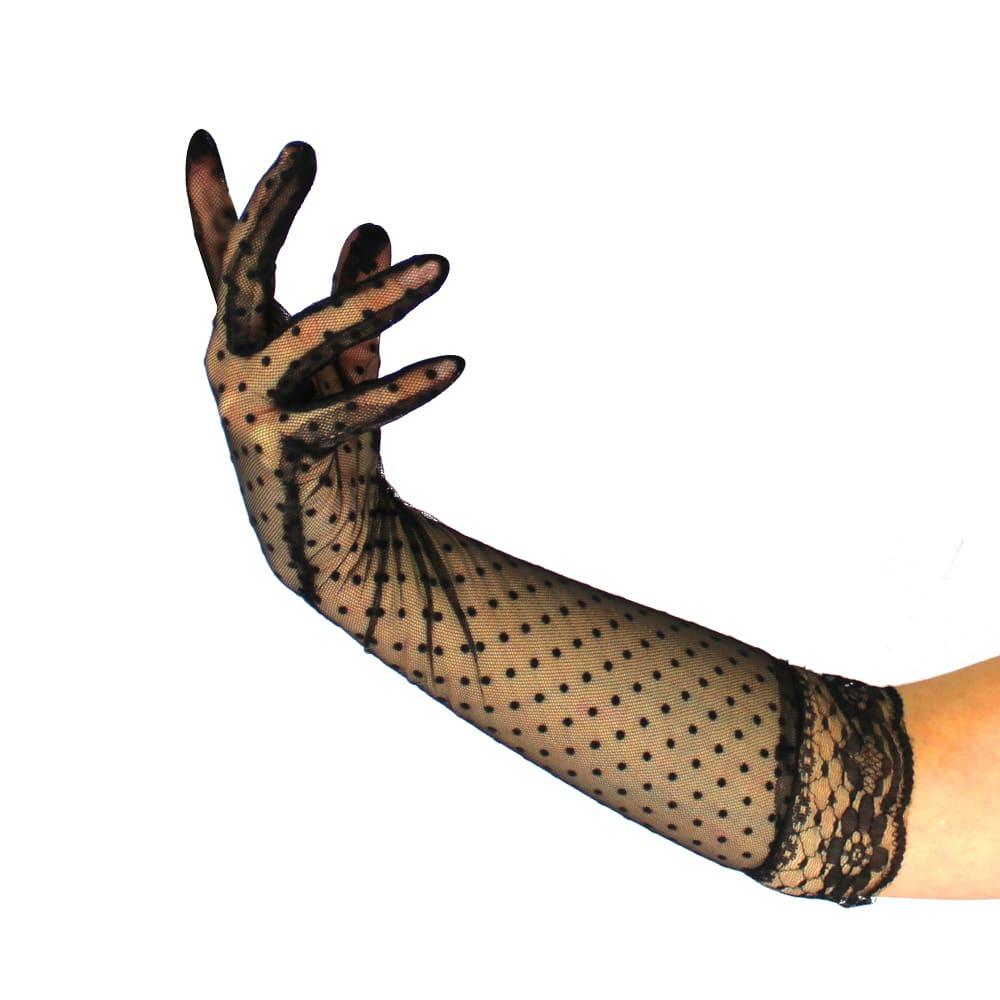guantes encaje plumeti negro