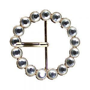 hebilla circular 6 mm oro