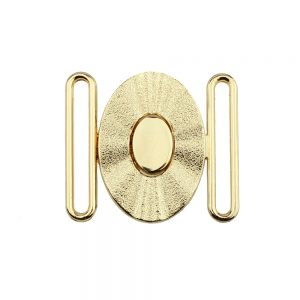 hebilla oval 40mm metal oro