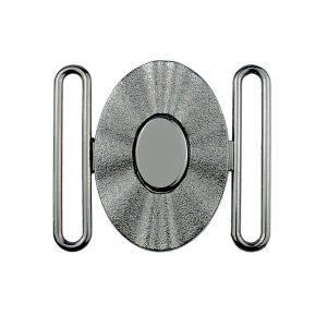 hebilla oval 50 mm metal plomo