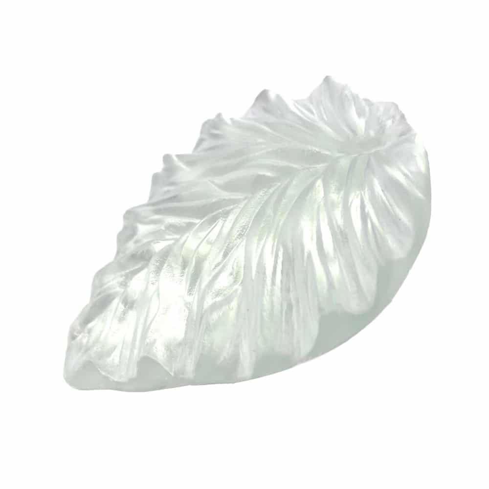 marcador hoja porcelana transparente