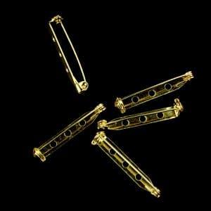 pack 5 imperdibles 3 cm oro