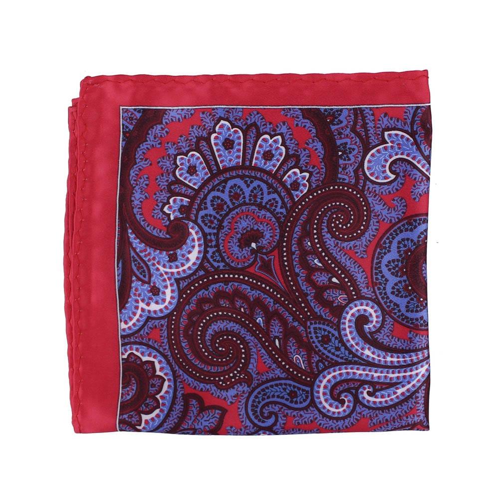 pañuelo seda paisley rojo