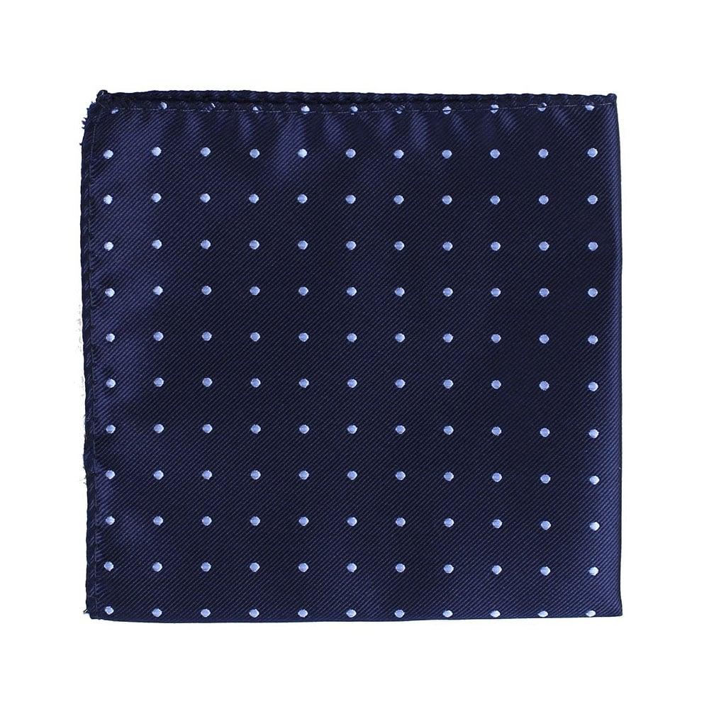 pañuelo topos azul claro