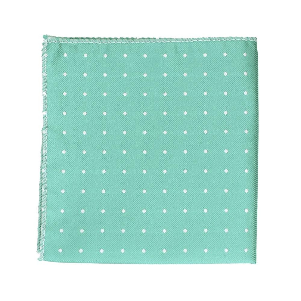 pañuelo topos verde agua