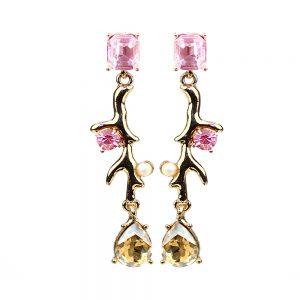 pendientes samaria rosa palo