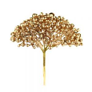 pistilos metalizados oro