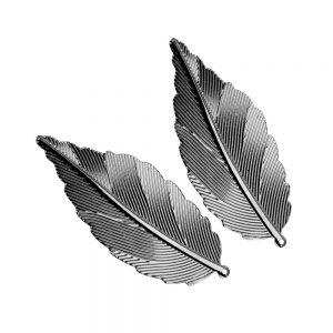 pluma laton 6x2.5 cm (2 ud) plata