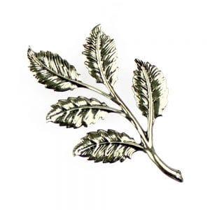 rama 5 hojas grande plata