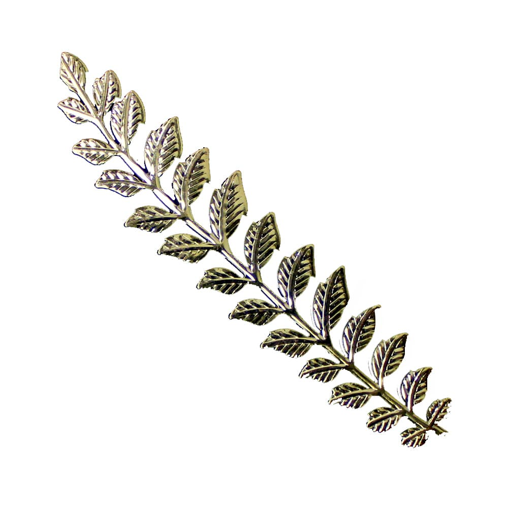 rama con hojas de laton xxl oro