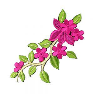 rama flor bordada buganvilla