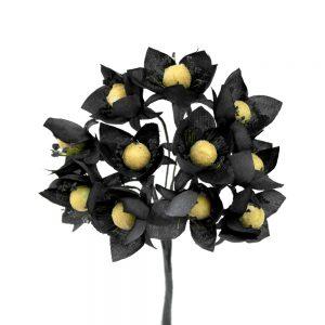 ramillete 12 flores 10×8 cm negro