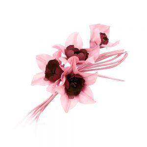 ramillete 4 orquideas rosa maquillaje