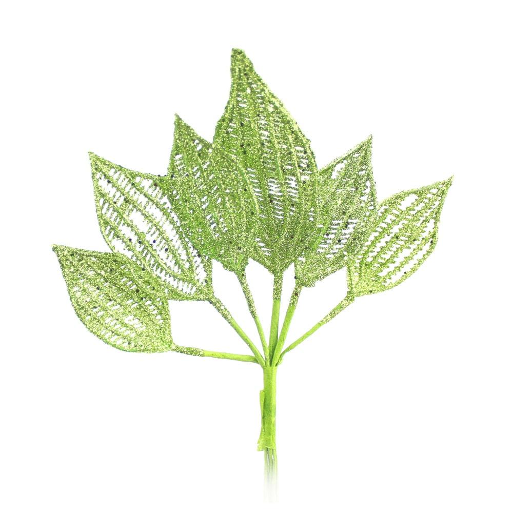 ramillete 6 hojas lurex verde medio
