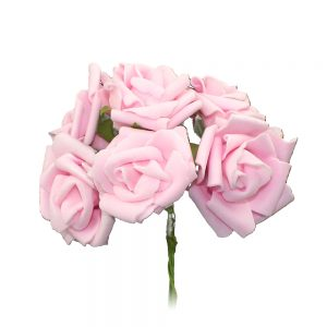 ramillete 6 rosas foam rosa