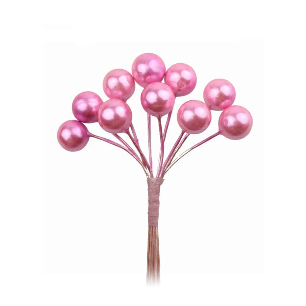 ramillete bolas pequeño rosa