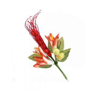 ramillete fruta y flor rojo