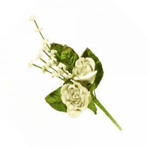 ramillete rosas y florecillas crudo