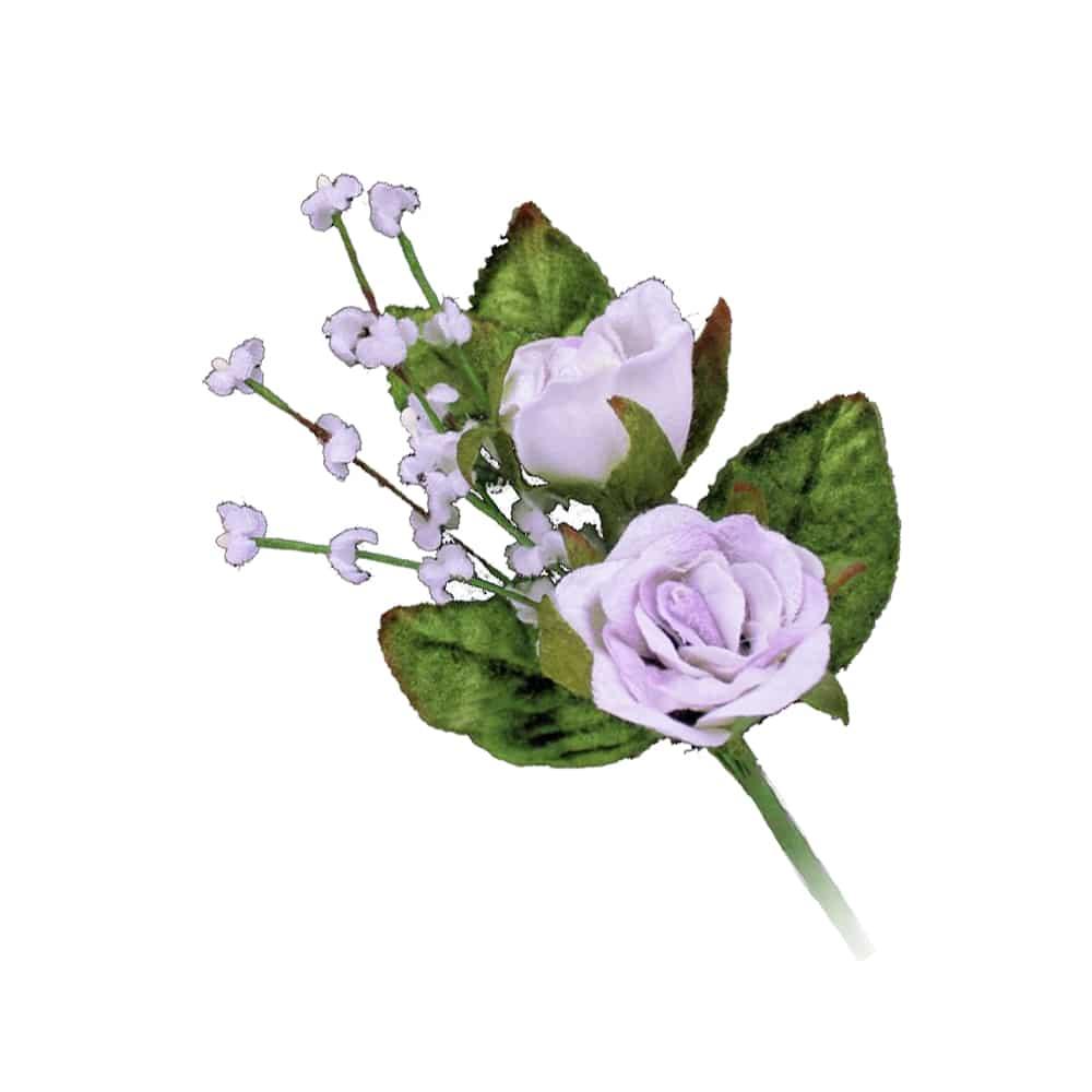 ramillete rosas y florecillas lila