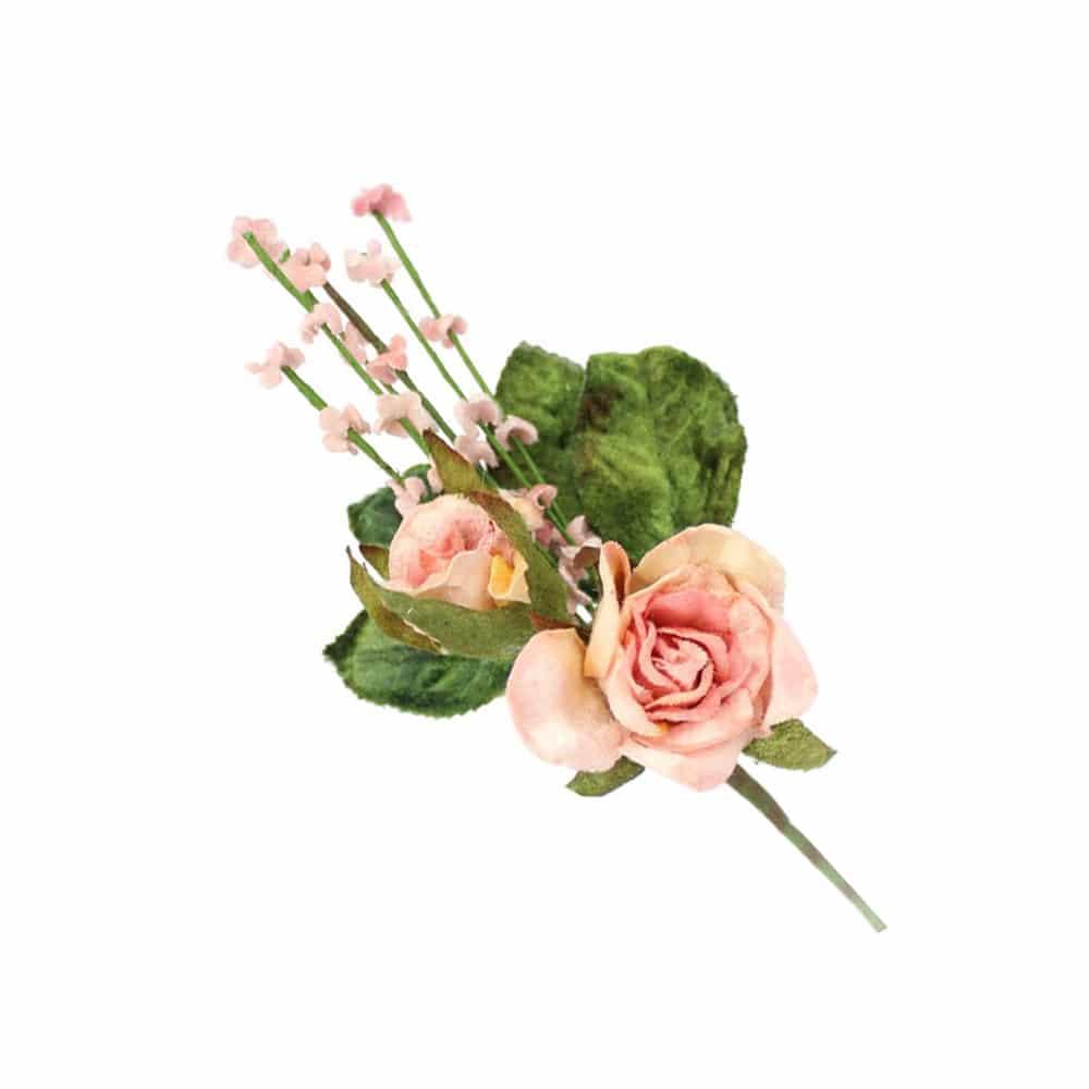 ramillete rosas y florecillas rosa maquillaje