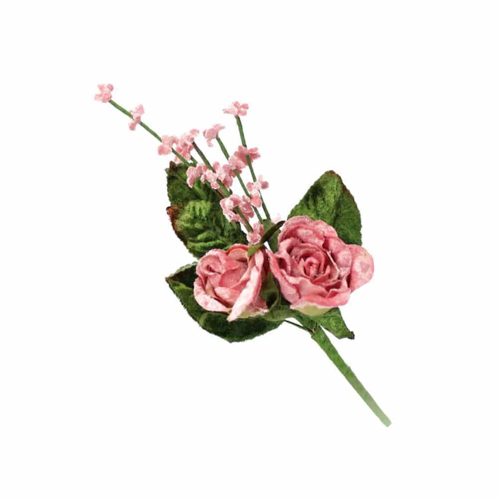 ramillete rosas y florecillas rosa