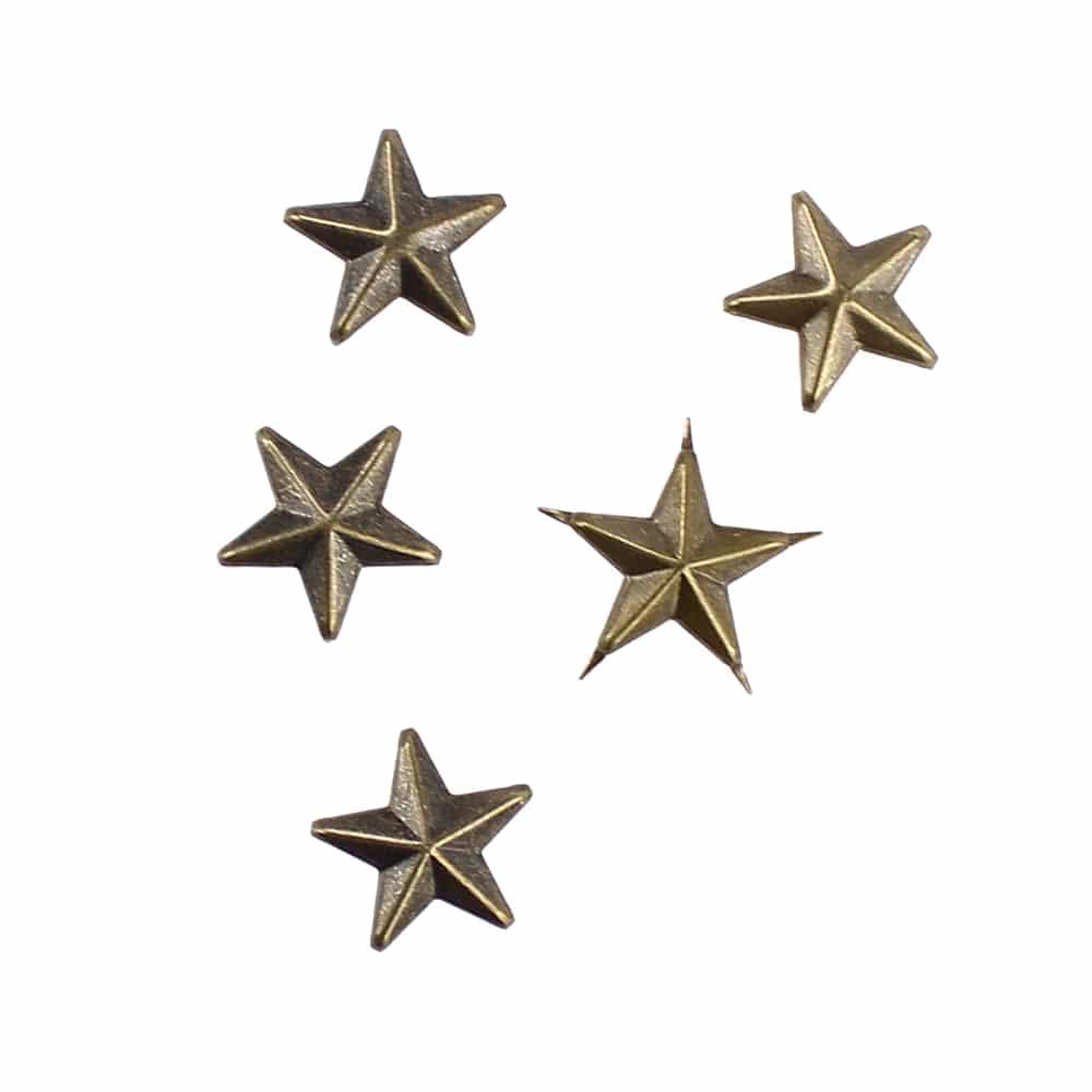tacha estrella (5 unidades) oro viejo
