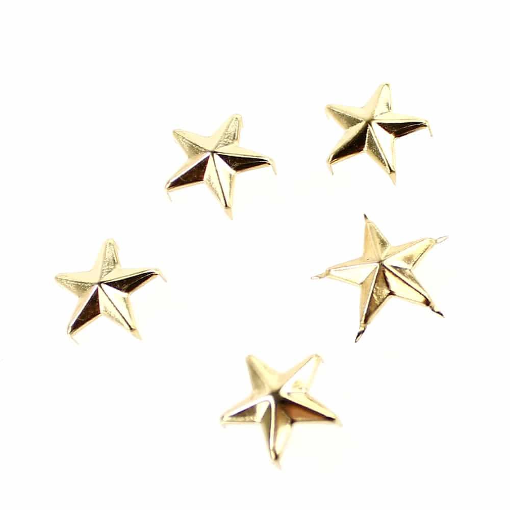 tacha estrella (5 unidades) oro