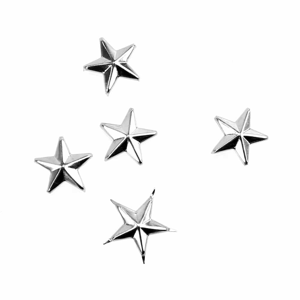 tacha estrella (5 unidades) plata