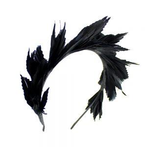 tiara de pluma susan negro