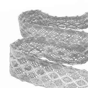 tira de encaje metalizado 4 5 cm