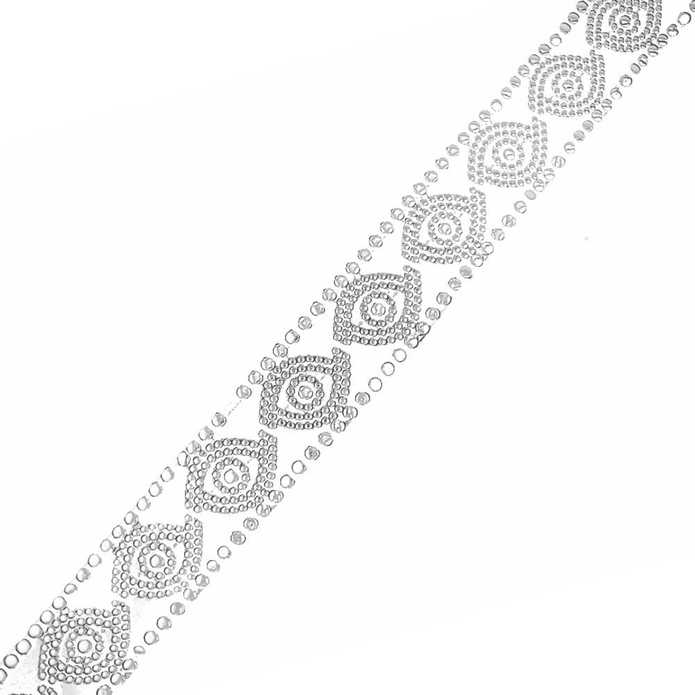 tira de ondas con tachuela metálica 3 cm plata vieja