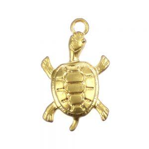 tortuga de laton oro