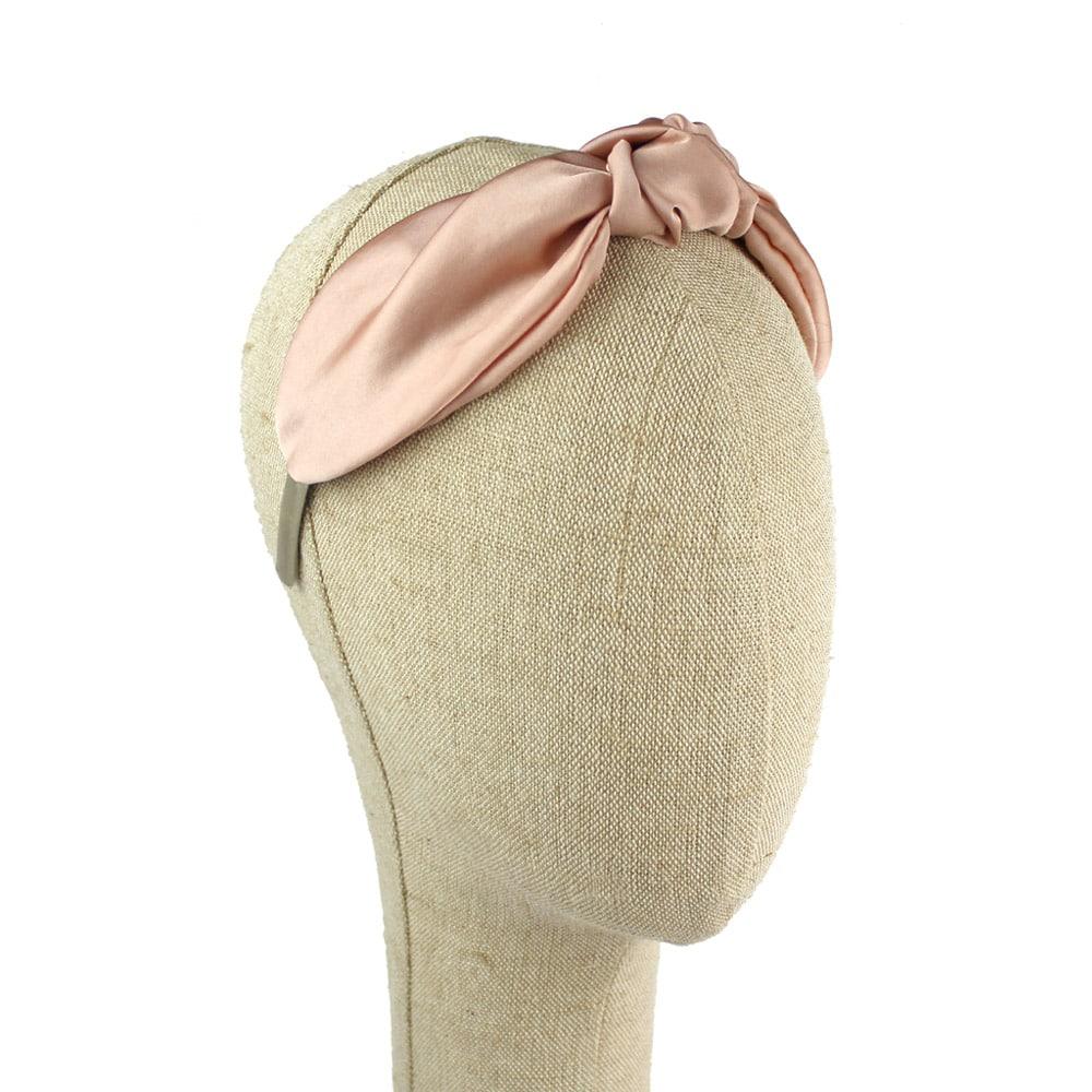 turbane diadema raso rosa nude