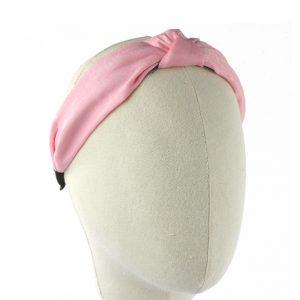 turbante diadema seda rosa medio