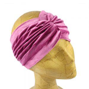 turbante terciopelo abierto alta calidad rosa maquillaje