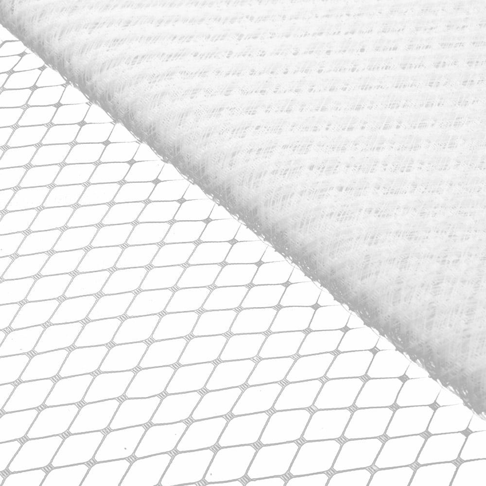 velo liso 23 cm blanco
